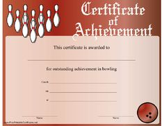 Free printable bowling certificates bowling awards for Bowling certificates template free