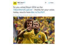 Público da BBC votou e decidiu – a Copa do Mundo de 2014 foi a melhor de todas ;-) - Blue Bus