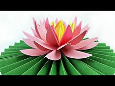 DIY paper flower Water Lily / arts and crafts flowers easy for kids / How to Make Beautiful Lotus - YouTube