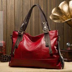 Genuine Leather Shoulder Trendy Messenger Bag
