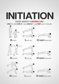 Initiation workout.