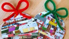 nice recycled christmas decorations for kids 31 Easy DIY Christmas Decorating Ideas to Copy Now Recycled Christmas Decorations, Christmas Arts And Crafts, Kids Christmas Ornaments, Christmas Collage, Homemade Christmas Decorations, Handmade Christmas, Holiday Crafts, Christmas Diy, Paper Decorations