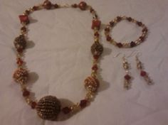 Ruby Red Sahara Handmade acrylic beads with ruby by Aaccezzories, $15.00