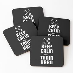 Fitness Design, Train Hard, Sell Your Art, Coaster Set, Keep Calm, It Works, How To Become, Printed, Awesome