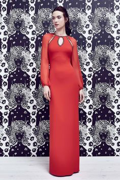 Jenny Packham | Resort 2017 fashion collection | Red chic