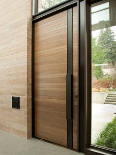 Современные двери из деревянных панелей