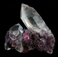 Quartz, Lepidolite Pederneria Mine, São José da Safira, Doce Valley, Minas Gerais, Brazil