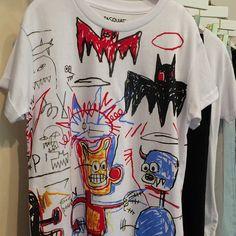 Brilliant #basquiat sketch T-shirt from #littleelevenparis for #kidswear #SS16…