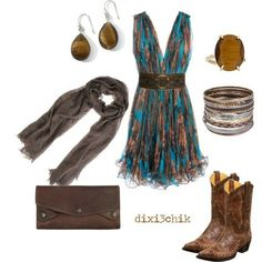 Love the boots with this dress.