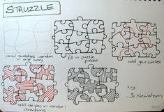 struzzle zentangle tutorial #