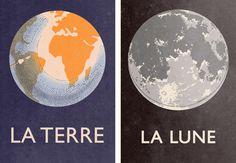 the earth the moon