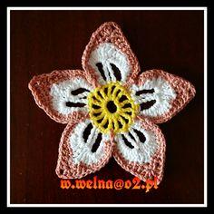 Kwiatek :)  #kwiat #flower #handmade #crochet #rękodzieło