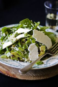 broad bean and quinoa salad