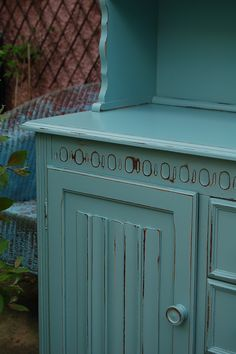 Vintage Dresser hand painted and distressed in F, Dix Blue...