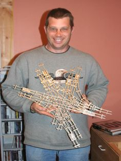 Walter displays his mastery model trackwork - the Chicago 6-way Grand Union.