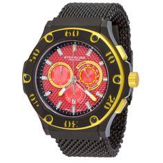 ed2ee90da85 Stuhrling Original Men s Iconoclast Red-Dial Quartz Mesh Band Watch  (Stuhrling Original Men s Watch