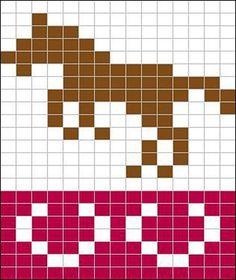 Ravelry: Jumping horse pattern by Sandra Jäger Fair Isle Knitting Patterns, Fair Isle Pattern, Knitting Charts, Sweater Knitting Patterns, Knitting Socks, Knitting Machine, Free Knitting, Cross Stitch Horse, Tiny Cross Stitch