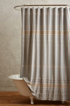 Scallop Striped Shower Curtain - coyuchi anthropologie.com
