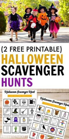 If you're looking for a fun activity for kids this October - these 2 colorful Halloween Scavenger Hunts are fun & easy entertainment for kids of all ages! #halloweenscavengerhunt #halloweenactivities #halloweengames #halloweengamesforkids #halloweenactivitiesforkids Halloween Party Activities, Halloween Scavenger Hunt, Scavenger Hunt For Kids, Fun Halloween Crafts, Fun Party Games, Halloween Activities For Kids, Scavenger Hunts, Craft Activities For Kids, Halloween Ideas