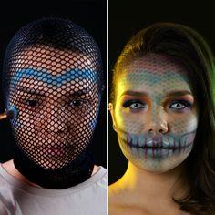 Makeup Artist Tattoo, Makeup Artist Quotes, Makeup Artist Logo, Halloween Hacks, Amazing Halloween Makeup, Halloween Couples, Halloween Costumes, Halloween College, Women Halloween
