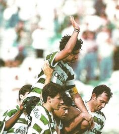 Luis Figo_1994-95 - 21 May 1995 Sporting 1 v Chaves 0 (Balakov '5) last time Figo wore the Sporting shirt before heading to bigger conquests in Spain & Italy.