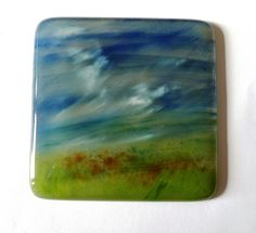 hand painted glass coasters from Kiln Fired Art