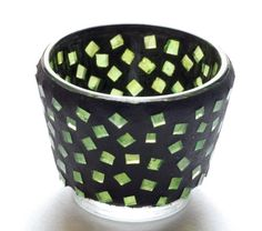 Relaxing green - Mosaic candle holder