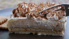 Απλά τέλειο εύκολο ότι καλύτερο σε δροσερό γλυκό ψυγείου Greek Sweets, Greek Desserts, Cold Desserts, Greek Recipes, No Bake Desserts, Dessert Recipes, 5 Ingredient Desserts, Food To Make, Food Porn