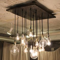 Edison bulb chandelier - totally DIY-able #home design