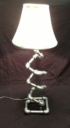 Table Lamp - Free Standing - Handmade - Unique Design - Galvanized Pipe - Free Shipping on Etsy, $149.00  #pin_it #diy #sustentabilidade #stuff @mundodascasas www.mundodascasas.com.br