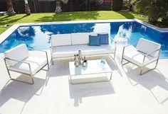 Un jardín bicolor: blanco y azul. #jardin #leroymerlin