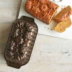 It is a Thomas family tradition to give out baked goods to the ones we love on holidays and this sweet little pumpkin loaf pan is perfectly suited to adding a little pizzazz to your freshly backed package. - From The Home Decor Discovery Community of www.DecoandBloom.com