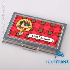 Maxwell Clan Crest Business Card Case. Free worldwide shipping available