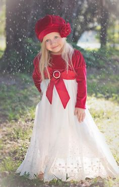 Holiday Red Juliette Maxi Dress Preorder Exclusively at Cassie's Closet 2 to 10 Years