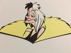 Disney Inspired Cruella de Vil Die Cut Embellishment Handmade Card Stock  | eBay