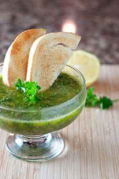 {Italian Salsa Verde} This versatile sauce has a citrus, peppery bite that goes great with just about any meat and tastes great as a dipping sauce for bread!