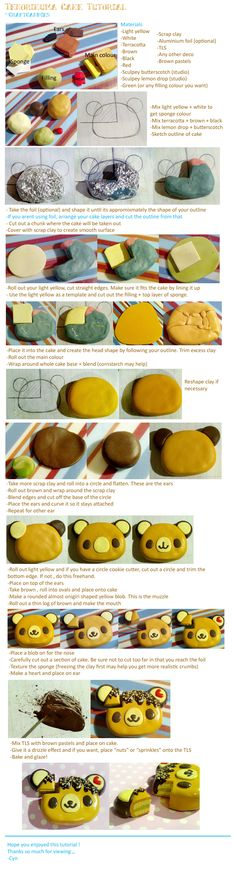 Polymer Clay: Tenorikuma Cake Tutorial by CraftCandies.deviantart.com