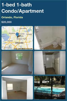 1-bed 1-bath Condo/Apartment in Orlando, Florida ►$20,000 #PropertyForSale #RealEstate #Florida http://florida-magic.com/properties/7342-condo-apartment-for-sale-in-orlando-florida-with-1-bedroom-1-bathroom