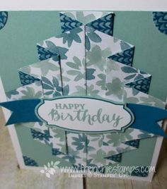 Stamp & Scrap with Frenchie: Double Pleated Fold Video