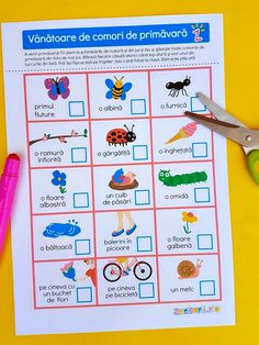 Vânătoare de comori de primăvară, bingo de primăvară Bingo, Happy Birthday, Map, Education, Puzzle, Bebe, Happy Brithday, Puzzles, Urari La Multi Ani
