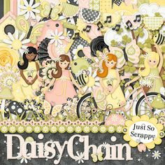 Daisy Chain Digital Scrapbook Kit  Digital by JssScrapBoutique, $4.99