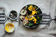 Japanese Sweet Potatoes + Broccoli with Carrot-Turmeric Sauce - The Holy Kale