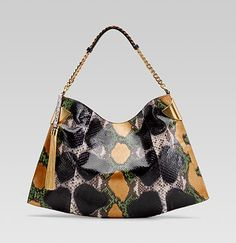 gucci 1970 shoulder bag in multi color.  you are so pretty, why do you have to be python?