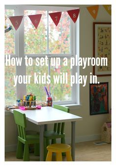 how to set up a playroom your kids will love - from toddler to preschooler to elementary age kids