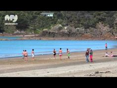 Auckland has a diverse range of glorious beaches to enjoy. From the rugged, black sand beaches on the west coast that include Piha, Muriwai and Karekare, to . Chasing The Sun, New Zealand Travel, Travel Videos, Auckland, Cool Places To Visit, West Coast, Beaches, The Good Place, Around The Worlds
