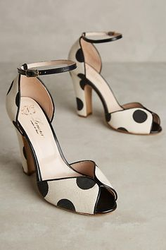 Darling spotted peep toe pumps