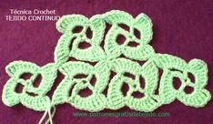 Técnica Crochet: Crochet Continuo - Video   Crochet y Dos agujas