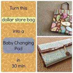DIY Baby Changing Pad Tutorial out of a reusable shopping bag
