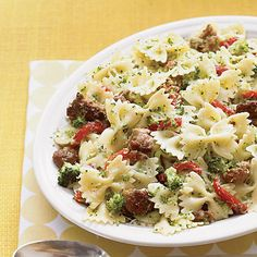 Learn how to make Bowties with Broccoli and Sausage . MyRecipes has 70,000+ tested recipes and videos to help you be a better cook