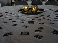 Class Reunion Table Decorations | copy yearbook pics and use as confetti